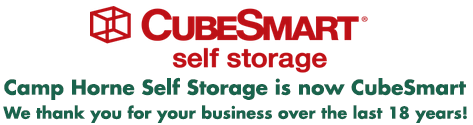 Camp Horne Self Storage is now CubeSmart